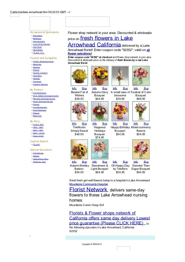 California/lake-arrowhead.htm 09:23:03 GMT -->               Occasions & Sentiments          Flower shop network in your a...