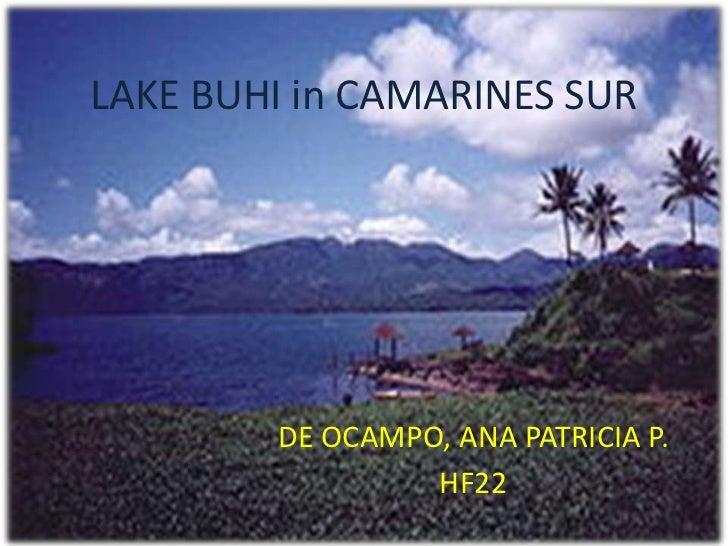 LAKE BUHI in CAMARINES SUR<br />DE OCAMPO, ANA PATRICIA P.<br />HF22<br />