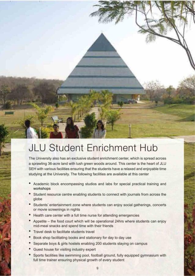 '. '?i |   . . '. .i '? - -' —  JLU Student Enrichment Hub  The University also has an exclusive student enrichment center...
