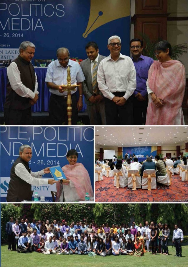 International Conference on People,  Politics and Media  School of Media and Communication of Jagran Lakecity University o...