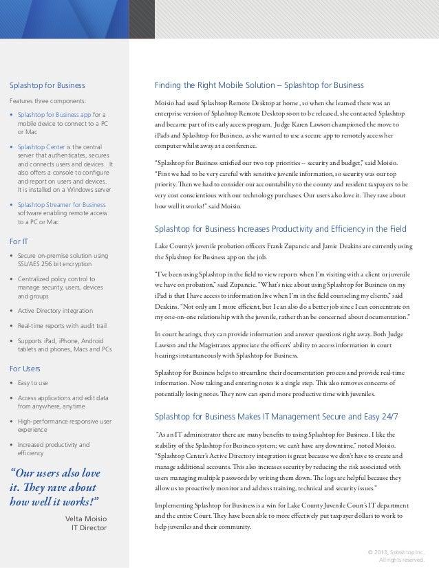 Splashtop for Business Case Study - Lake County Slide 2