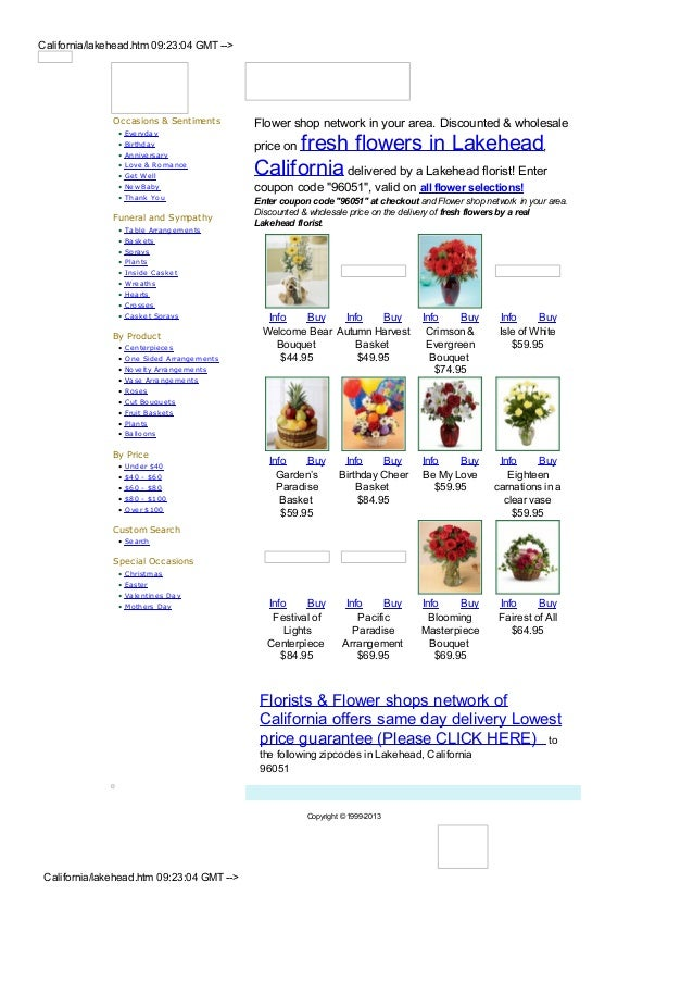 California/lakehead.htm 09:23:04 GMT -->               Occasions & Sentiments          Flower shop network in your area. D...