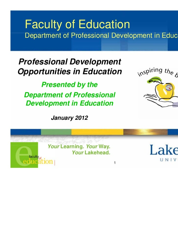 Faculty of Education Department of Professional Development i Ed D    t   t fP f      i   lD    l     t in Education      ...