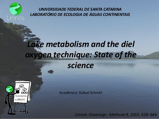 Lake metabolism and the diel oxygen technique: State of the science  Limnol. Oceanogr.: Methods 8, 2010, 628–644  Acadêmic...