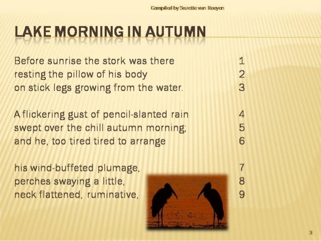 lake morning in autumn sparknotes