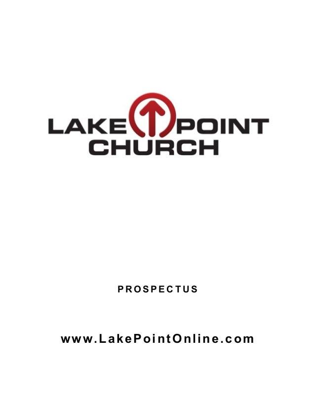 P R O S P E C T U S www.LakePointOnline.com