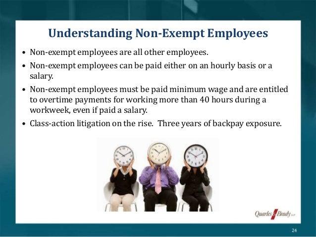 define non exempt employees