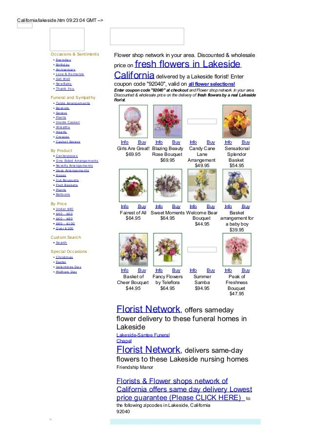 California/lakeside.htm 09:23:04 GMT -->               Occasions & Sentiments          Flower shop network in your area. D...