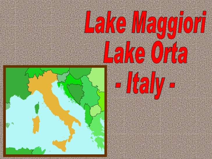 Lake Maggiori Lake Orta - Italy -