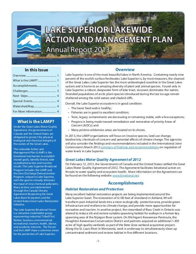 Lake Superior 2013 Annual Report Final Aug 26 13