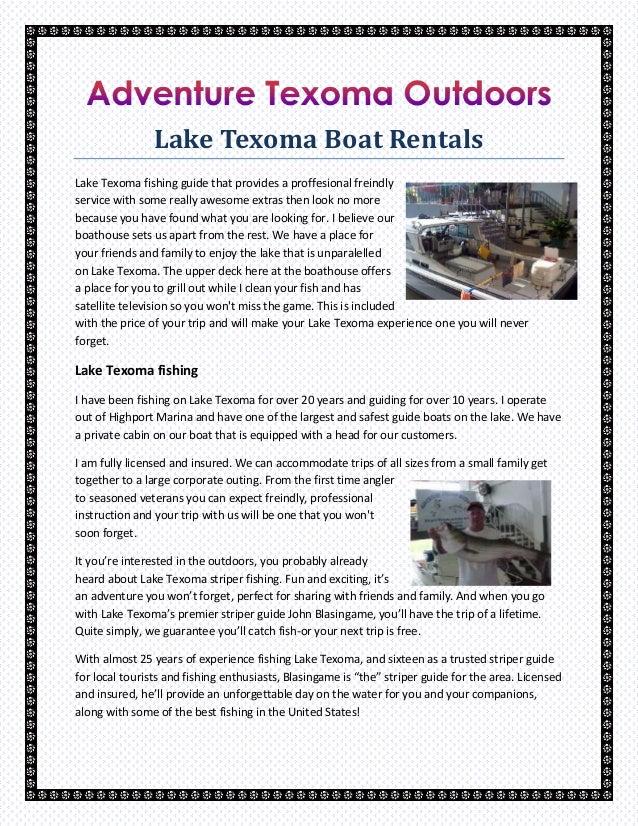 Lake Texoma Boat Rentals
