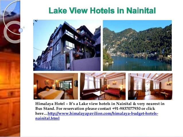 Lake View Hotels In Nainital