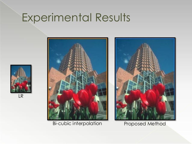single image super resolution So single image super resolution methods are now worked on and are the subject of this survey over the years several single image super resolution.
