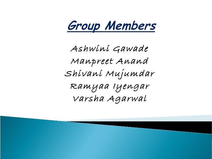 Ashwini Gawade Manpreet AnandShivani Mujumdar Ramyaa Iyengar Varsha Agarwal