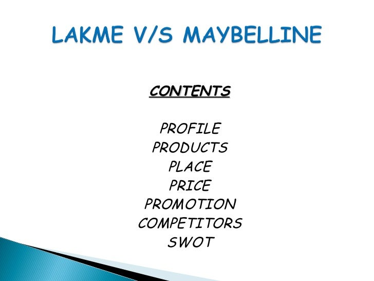 CONTENTS   PROFILE  PRODUCTS    PLACE    PRICE PROMOTIONCOMPETITORS    SWOT