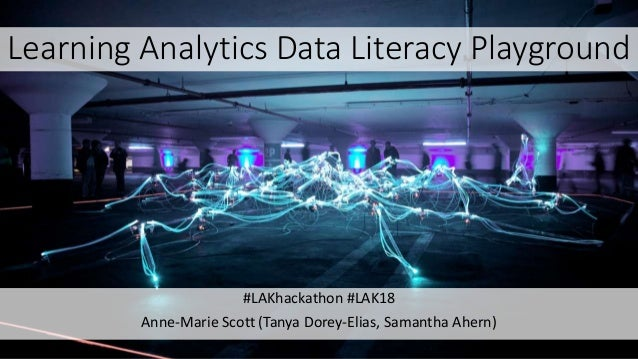 Learning Analytics Data Literacy Playground #LAKhackathon #LAK18 Anne-Marie Scott (Tanya Dorey-Elias, Samantha Ahern)