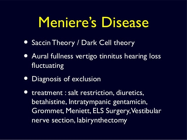 intratympanic steroids for meniere's disease