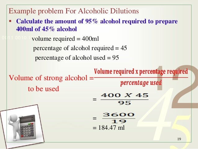 how to calculate alcohol by volume