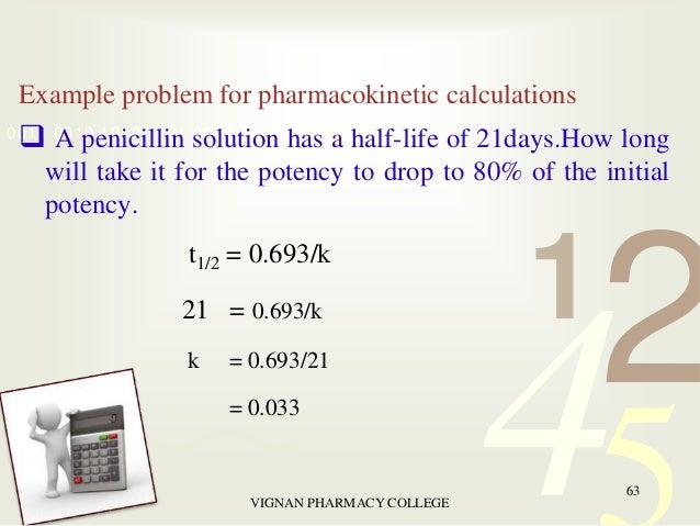 Pharmaceutical calculations pharmacy college 62 63 example problem for pharmacokinetic calculations a penicillin solution fandeluxe Choice Image