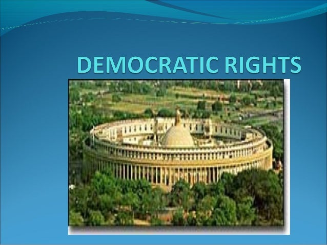 India is a democratic country Principle of democracy is that the government of the state is carried out with the co-opera...