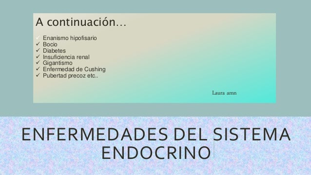 Patologías del sistema endocrino ppt descargar.