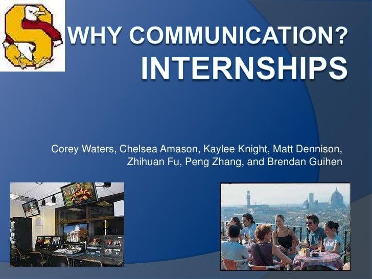 Corey Waters, Chelsea Amason, Kaylee Knight, Matt Dennison,               Zhihuan Fu, Peng Zhang, and Brendan Guihen