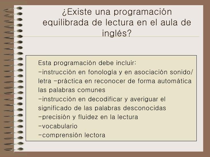 La Lectura En Ingles Slide 3