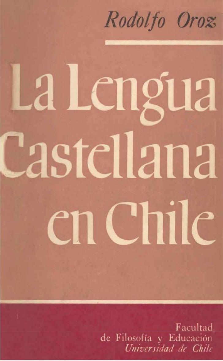 astcllana en Chile                   Facultad,   de Filosofia y Educacicin        Ukiversidad de Chile