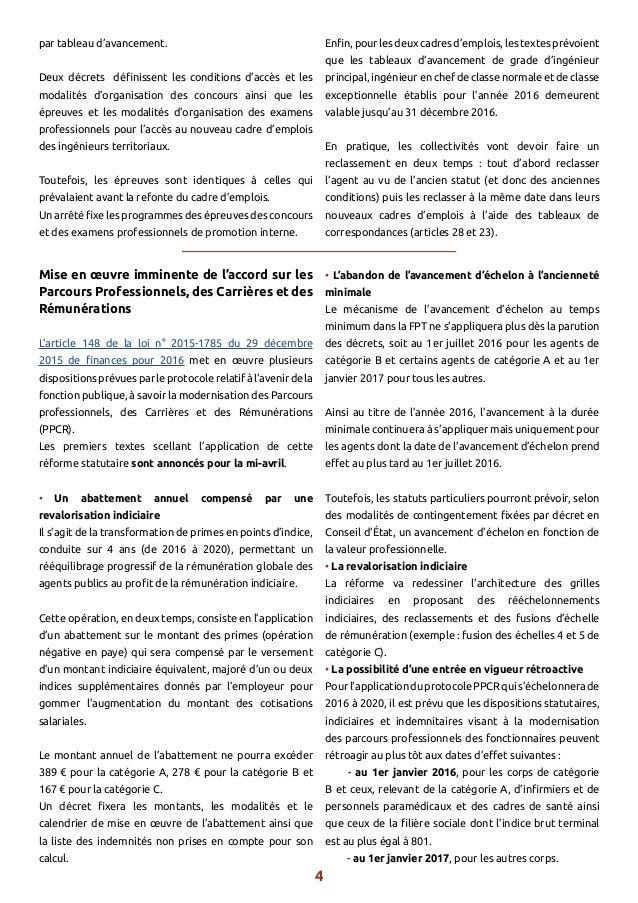 La lettre information juridique n1 avril 2016 cdg 60 - Revalorisation grille indiciaire 2015 ...