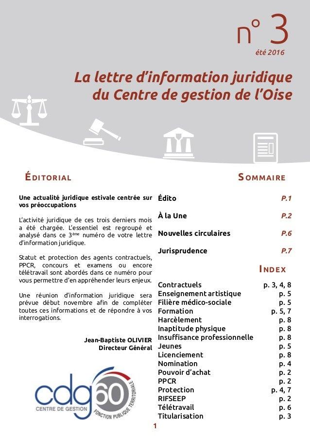 1 Une actualité juridique estivale centrée sur vos préoccupations L'activité juridique de ces trois derniers mois a été ch...