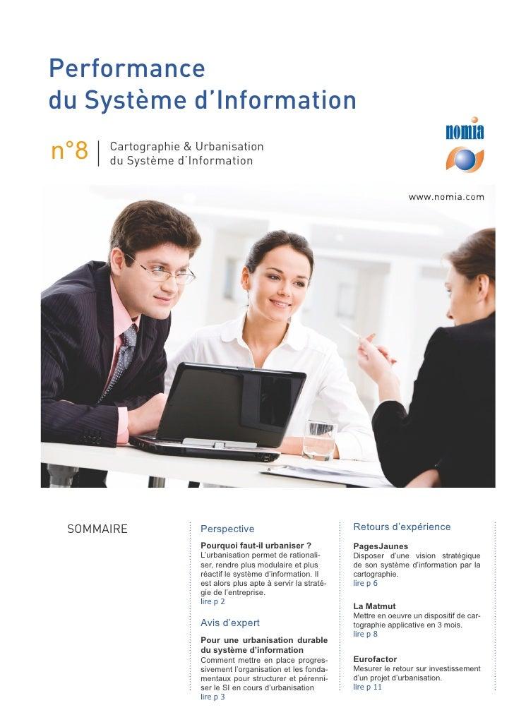 Performance du Système d'Information n°8   Cartographie & Urbanisation       du Système d'Information                     ...