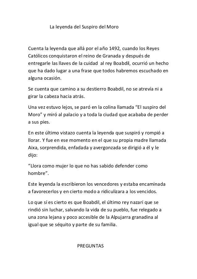 La Leyenda Del Suspiro Del Moro