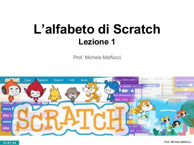 CC-BY-SA Prof. Michele Maffucci L'alfabeto di Scratch Lezione 1 Prof. Michele Maffucci