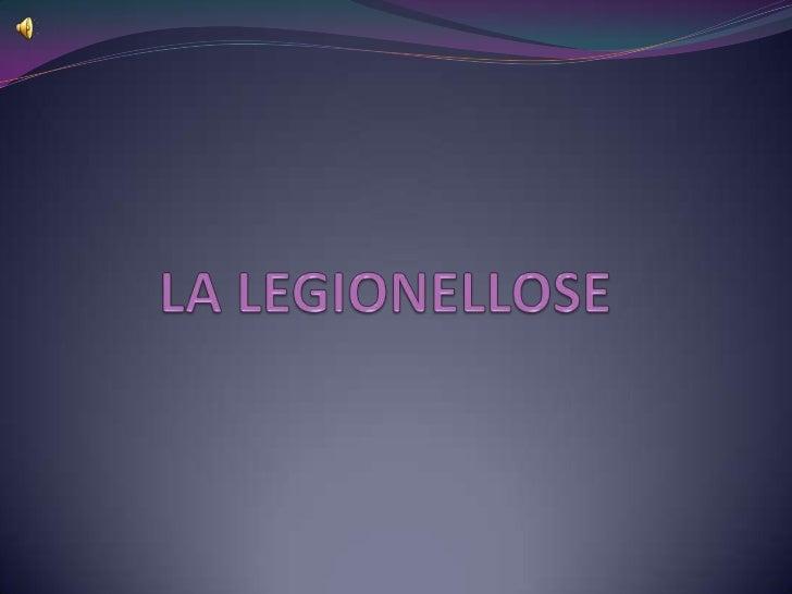 Définition de la maladie La légionellose est une maladie infectieuse due à une bactérie. La bactérie se développe dans l...