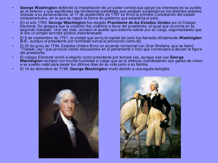 Charmant George Washington Resumn De Su Vida Zeitgenössisch ...
