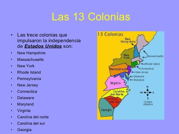 Resultado de imagen de colonias americanas