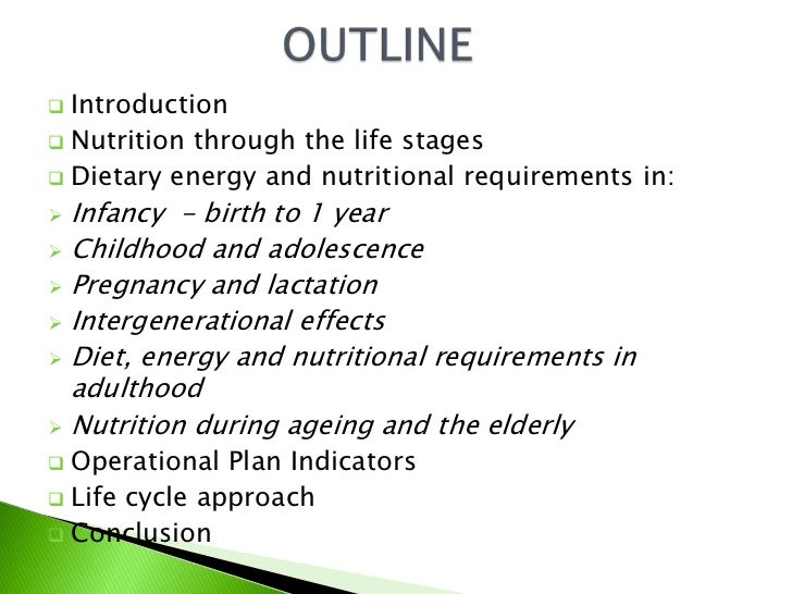 Nutritional Requirements During Different Life Stages