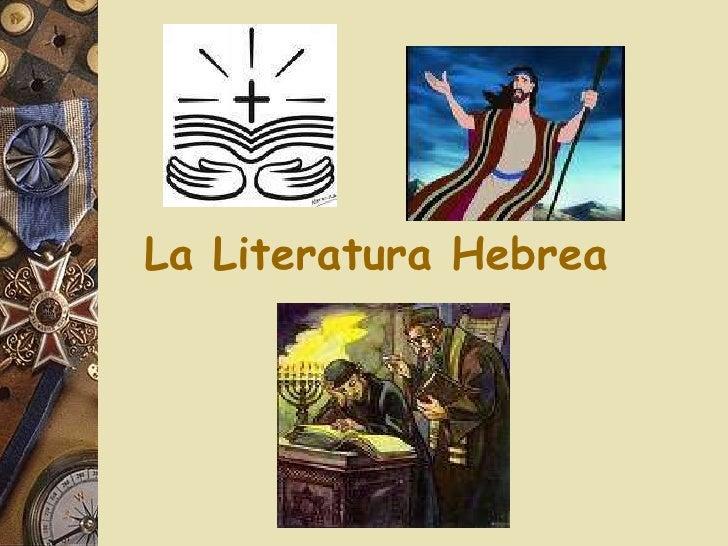 La Literatura Hebrea