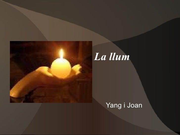 La llum Yang i Joan