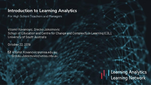 Introduction to Learning Analytics
