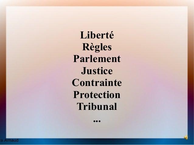 Liberté              Règles            Parlement              Justice            Contrainte            Protection         ...
