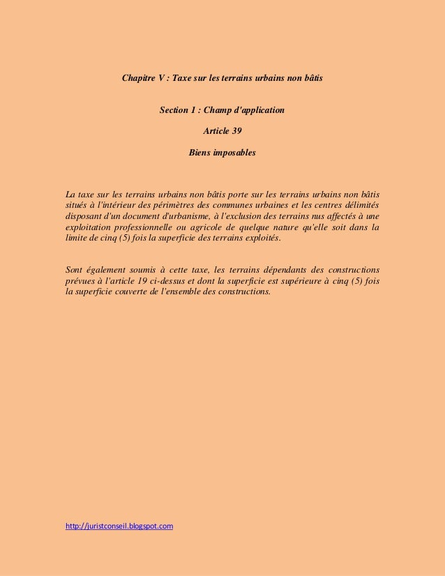 La loi n relative la fiscalit des collectivit s for Loi sur les constructions