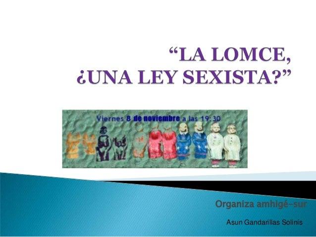 Organiza amhigé-sur Asun Gandarillas Solinís