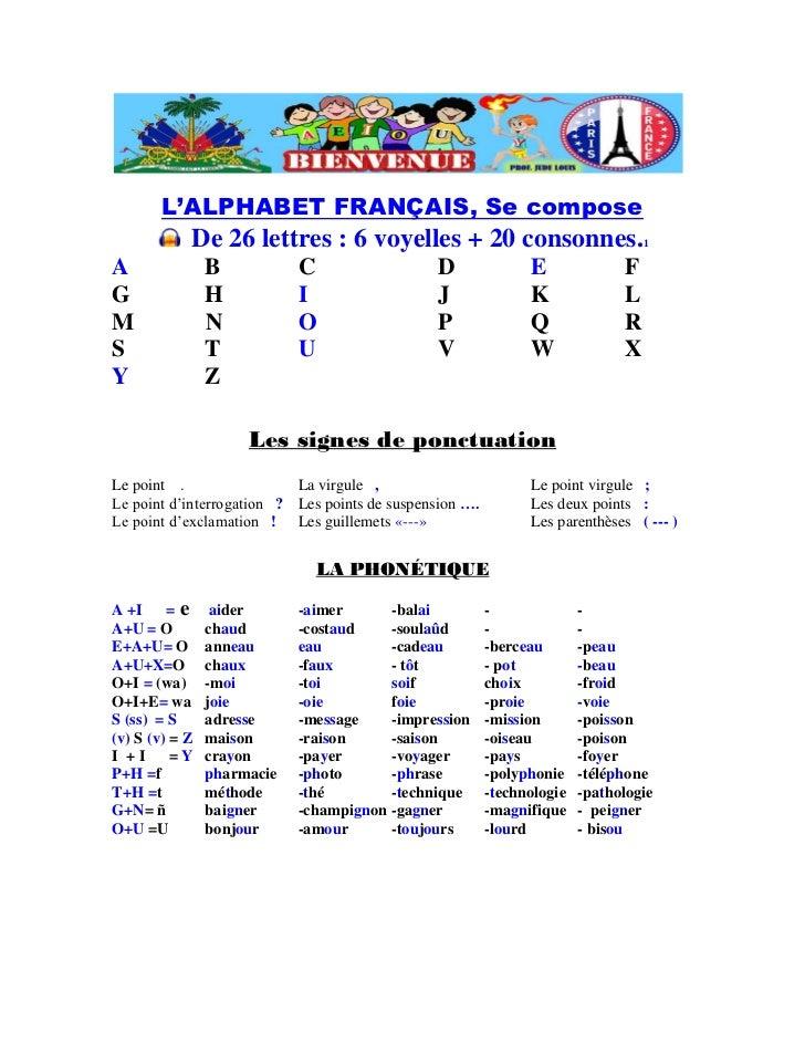 L 39 alphabet francais for Cuisinier francais 6 lettres