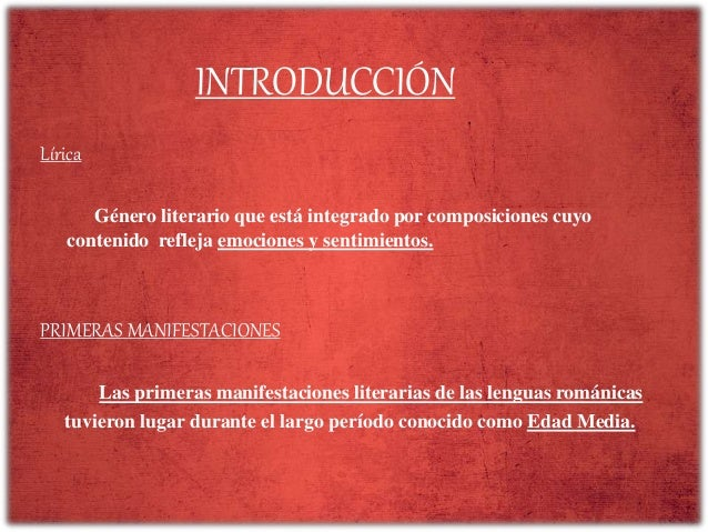 La lírica tradicional medieval castellana Slide 2