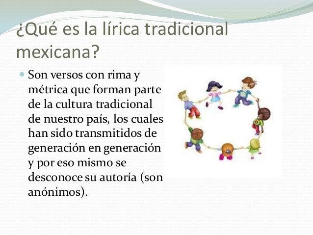 La lírica tradicional mexicana