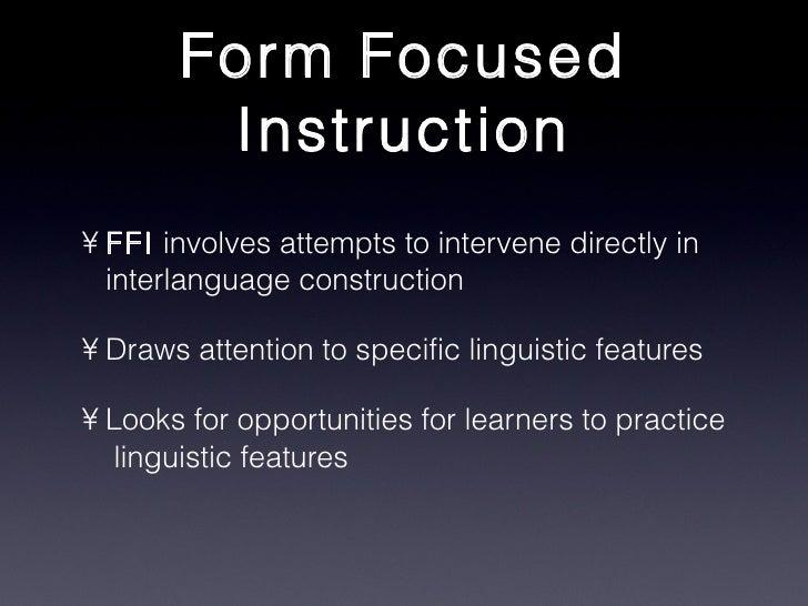 Focus on Form LALS520 Stafford Lumsden