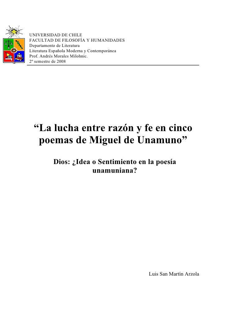 UNIVERSIDAD DE CHILE FACULTAD DE FILOSOFÍA Y HUMANIDADES Departamento de Literatura Literatura Española Moderna y Contempo...