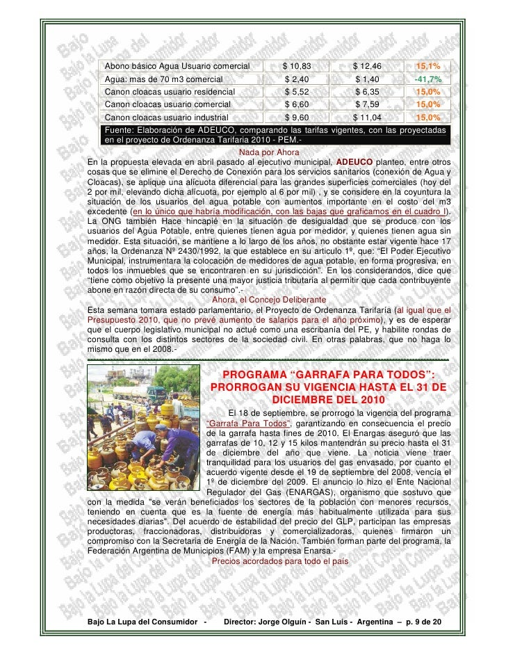 Abono básico Agua Usuario comercial                            $ 10,83                 $ 12,46               15,1%       A...