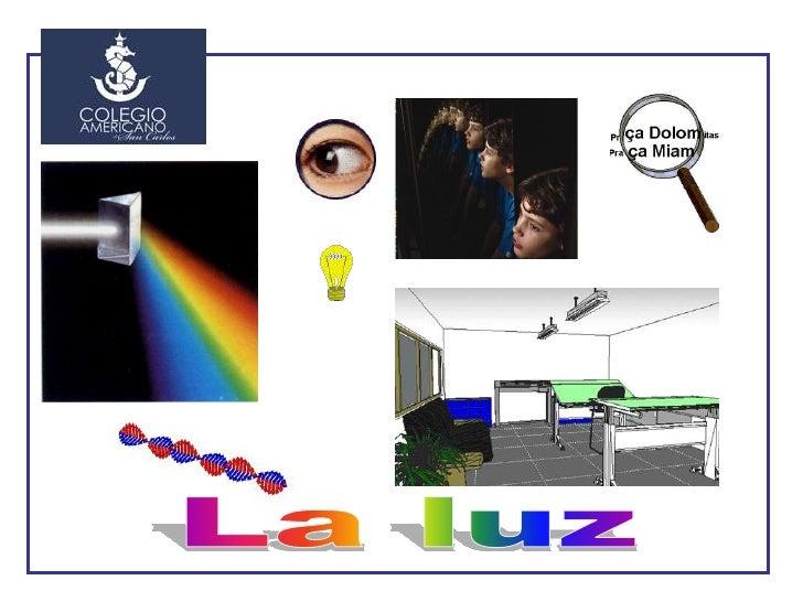 """1     ¿Qué es la luz? En el tema 3 (""""El calor y la temperatura"""") vimos que una radiación es una forma de transmisión de en..."""